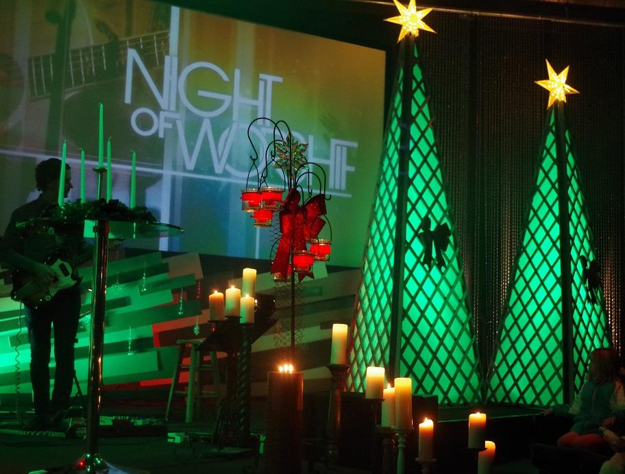 Christmas Blown Up Church Stage Design Ideas
