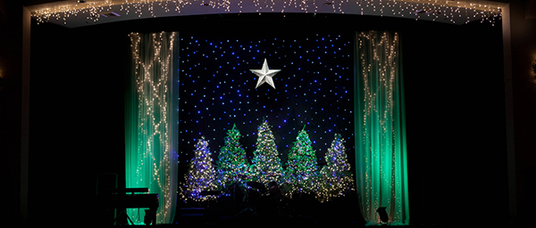 Framed-Trees-Christmas-Stage-Design