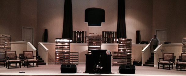 Pallets-on-a-Tiered-Stage