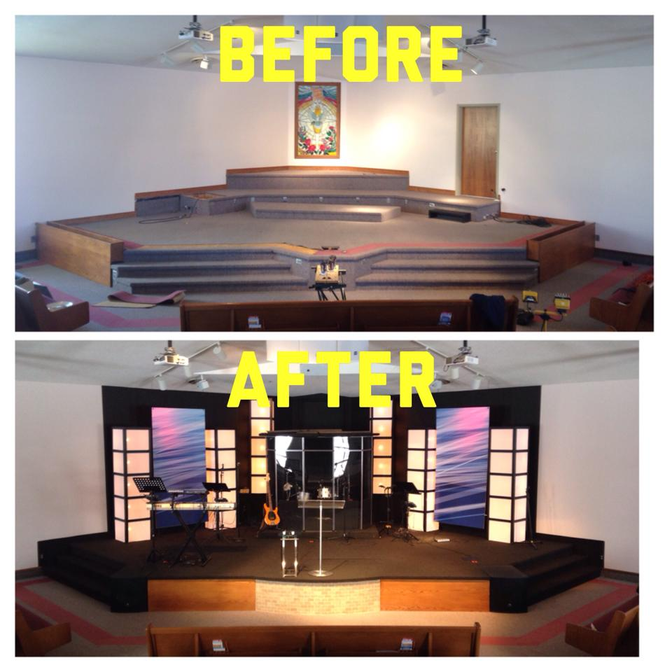 Design Church Sanctuary Pulpit also Small Church Stage Design ...