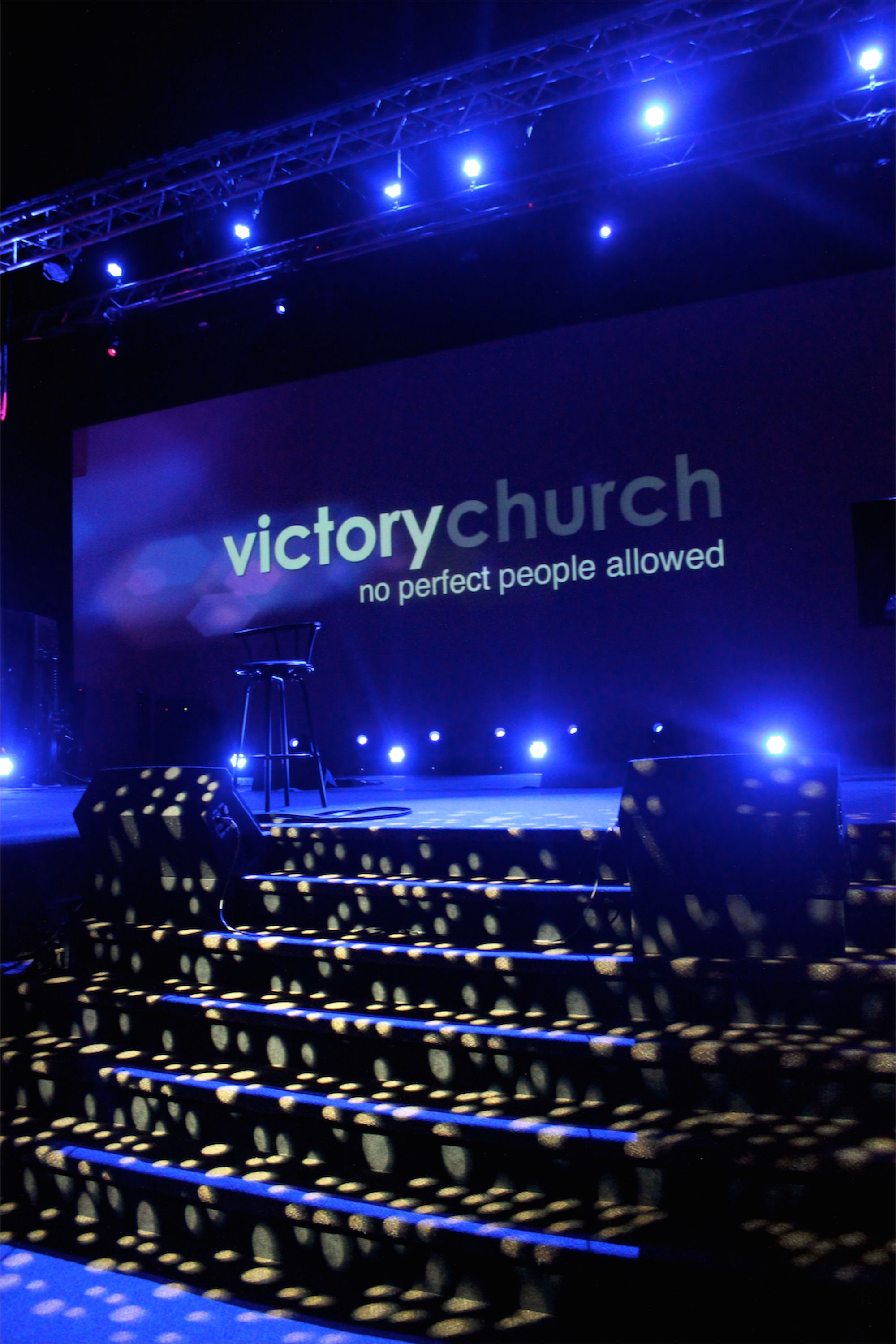 Windows To A Starry Night Church Stage Design Ideas