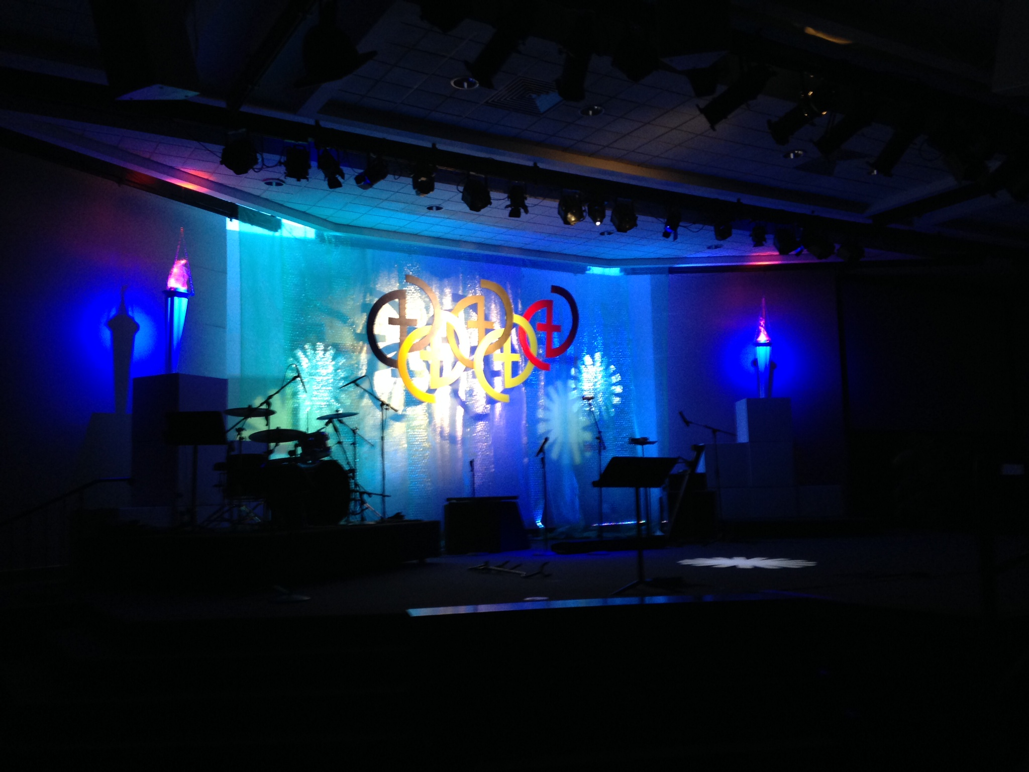 Olympic Bubbles Church Stage Design Ideas