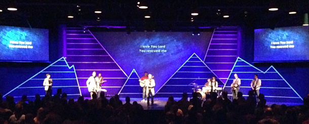 Mountains And Valleys Church Stage Design Ideas