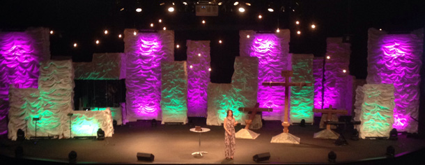 Church Stage Design Ideas re purposed wood pallets for church worship stage Fluffy Walls