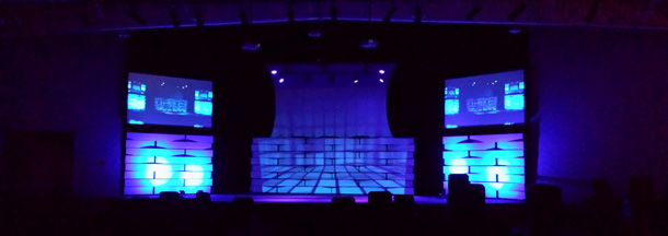 Projection bleed church stage design ideas for Capital home staging and design