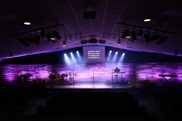 Wide Wall Church Stage Design Ideas