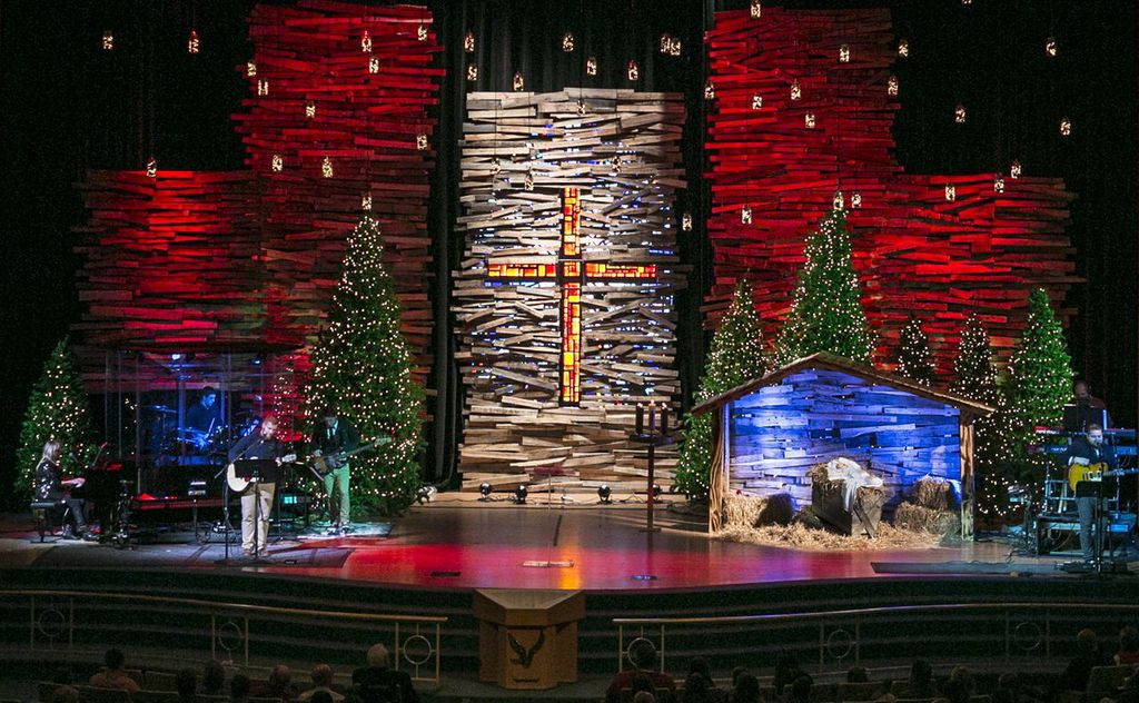 Pallet Skyscrapers | Church Stage Design Ideas