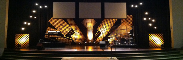 lattice burst church stage design ideas - Church Stage Design Ideas