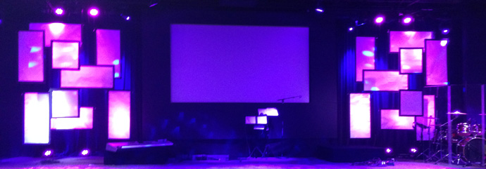 Faux Video Wall | Church Stage Design Ideas
