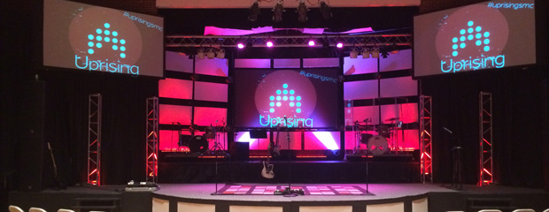 Simple Stacked Rectangles | Church Stage Design Ideas
