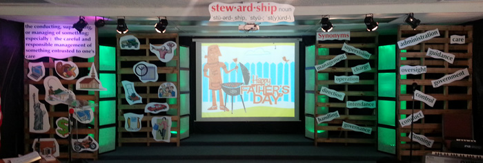 Stewardship Icons Church Stage Design Ideas