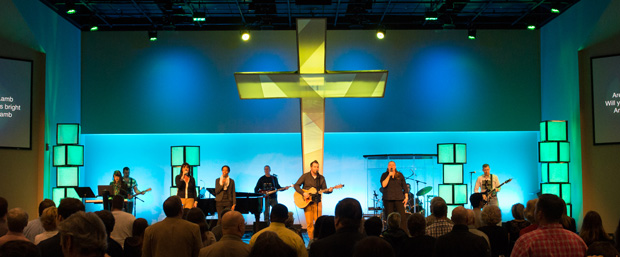 Mega Cross Church Stage Design Ideas