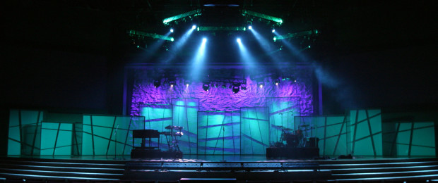 Dissected Panels Church Stage Design Ideas