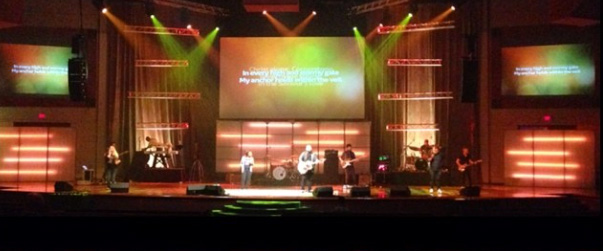 Diffused Led Tape Church Stage Design Ideas