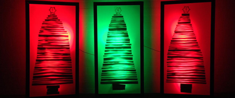 Multi Purpose Light Boxes Church Stage Design Ideas