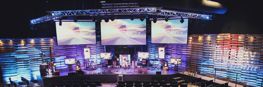 Long Way Home Church Stage Design Ideas
