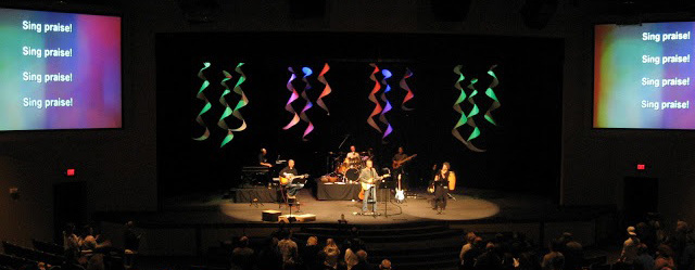 dropped spirals church stage design ideas - Stage Design Ideas