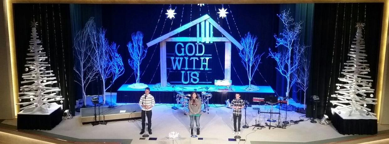 Manger Frame Church Stage Design Ideas