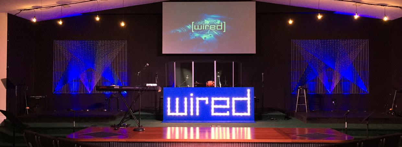 wired stage church stage design ideas