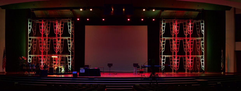 scaffolded church stage design ideas