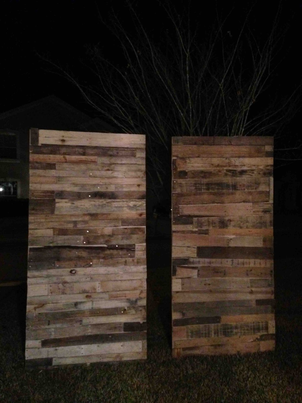 Pallet Wall Build 2
