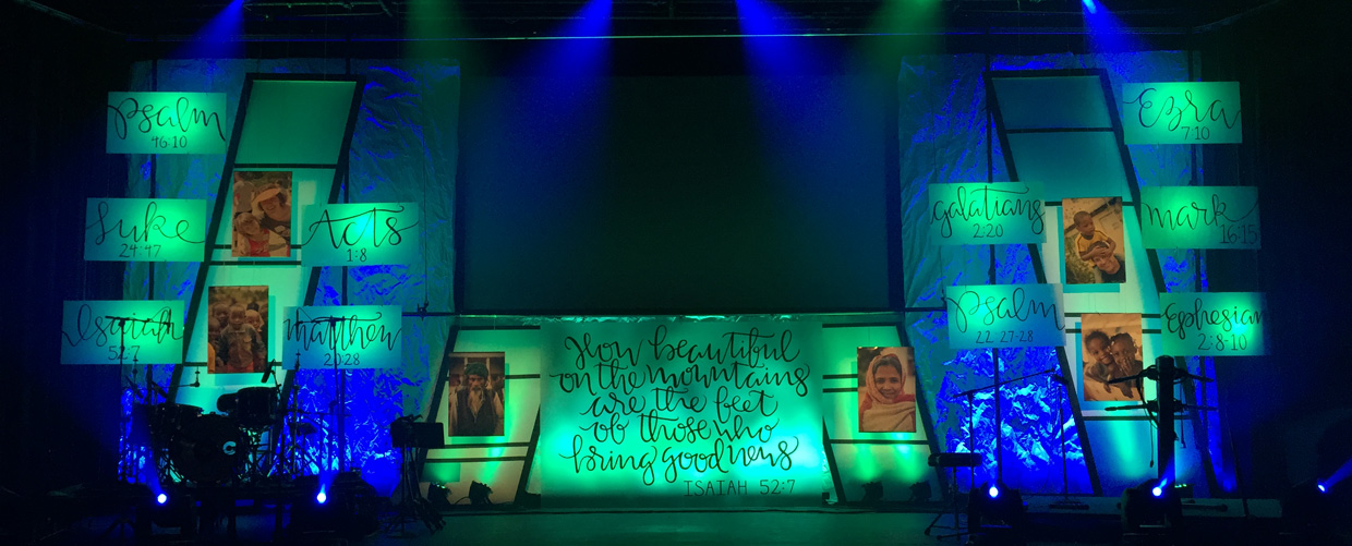 Scripted Church Stage Design Ideas