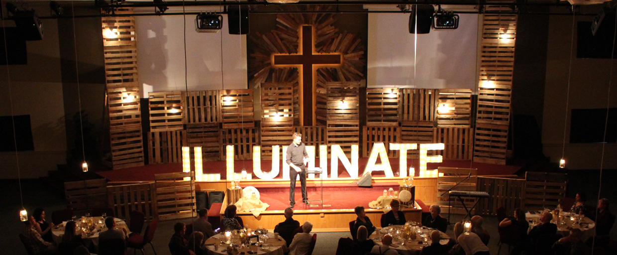 branched cross church stage design ideas
