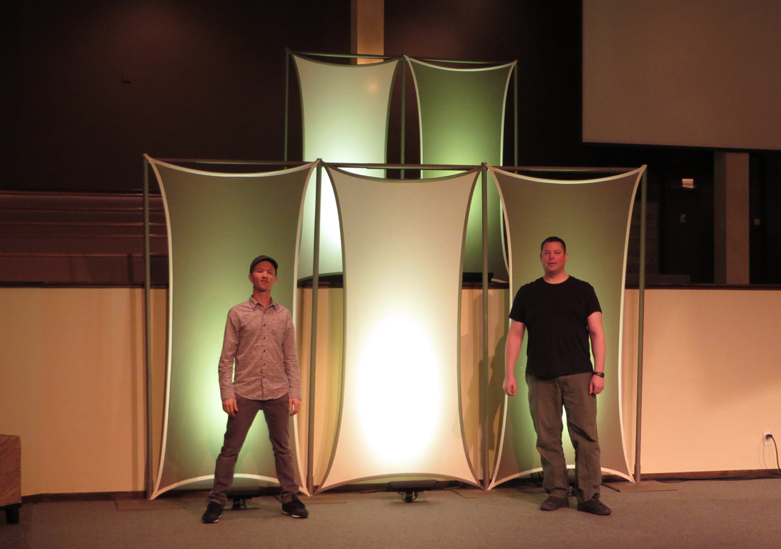 Flat Panel Sails Church Stage Design Ideas