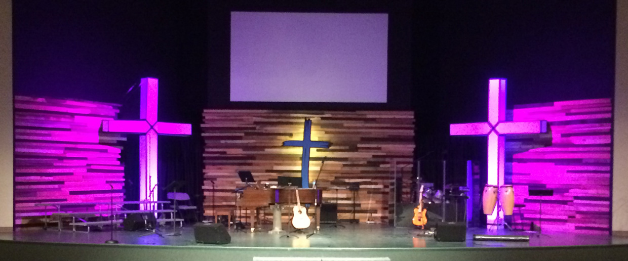 Hollow Crosses Church Stage Design Ideas