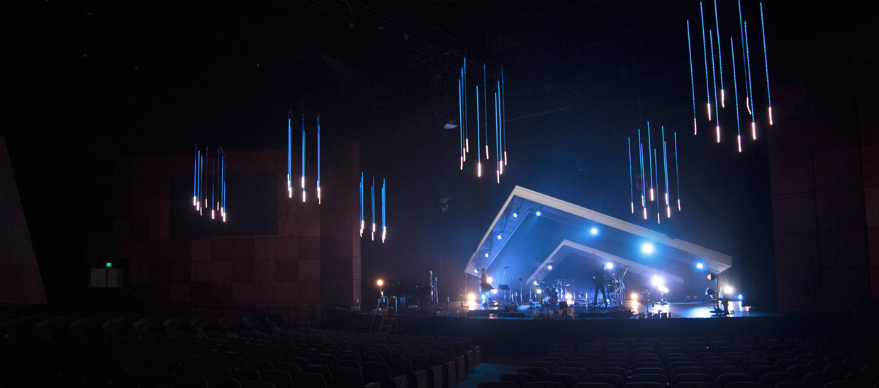 Space chevron church stage design ideas for Outer space stage design
