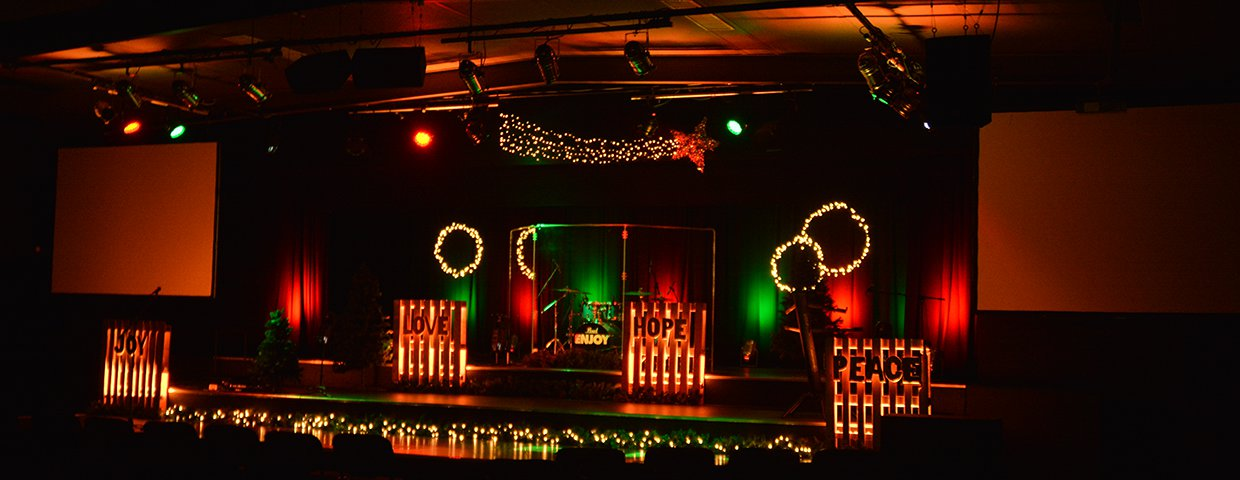 Joy To The Pallet Church Stage Design Ideas