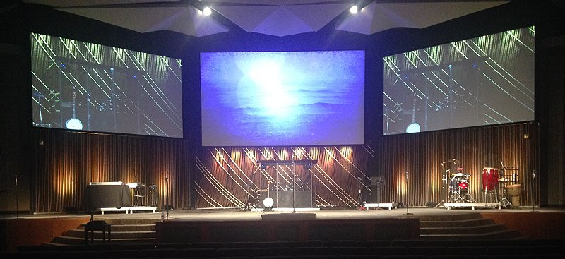 Rope And Rope Church Stage Design Ideas