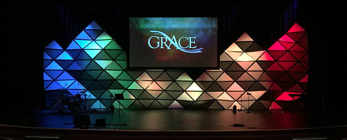 3d Pyramids Church Stage Design Ideas
