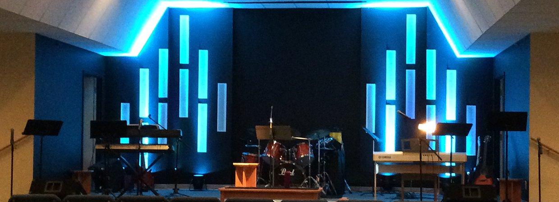 vert gutters church stage design ideas