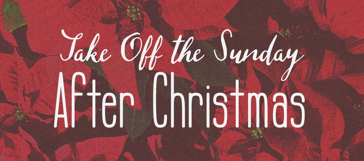 Take off the sunday after christmas church stage design ideas