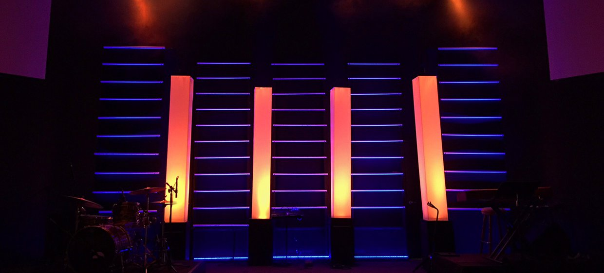 Layers And Towers Church Stage Design Ideas