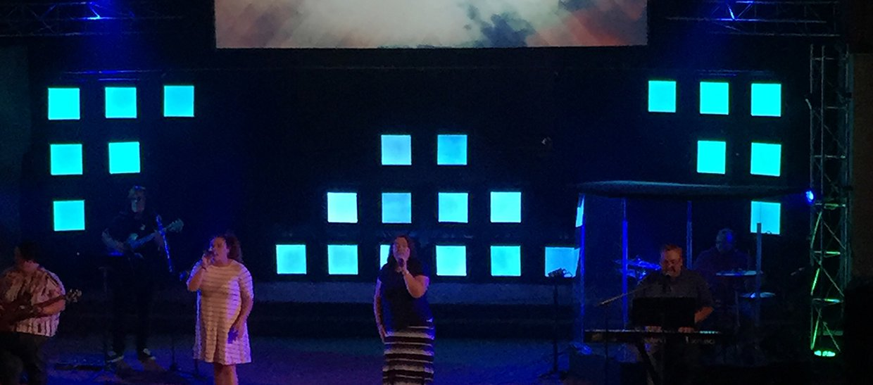 Led Boxes Church Stage Design Ideas