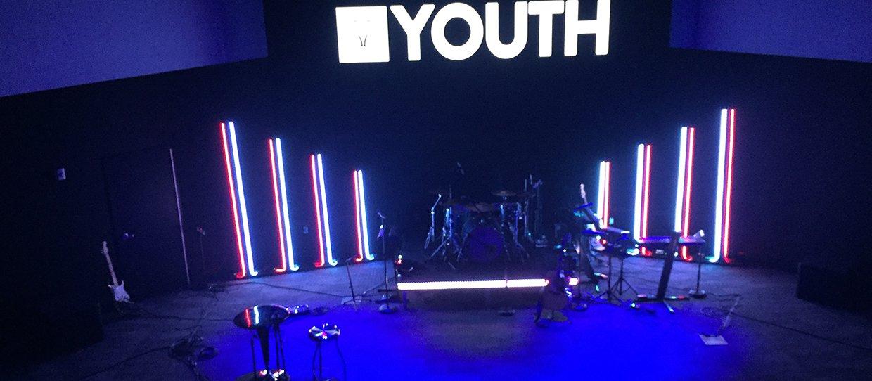 Light Sticks Church Stage Design Ideas