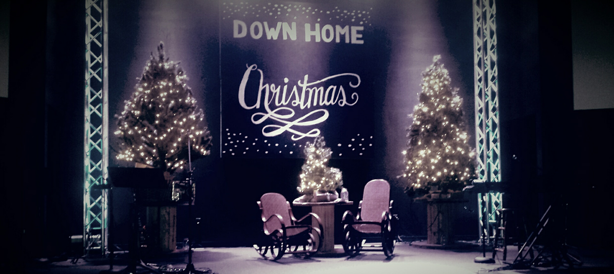 Down Home Christmas Church Stage Design Ideas