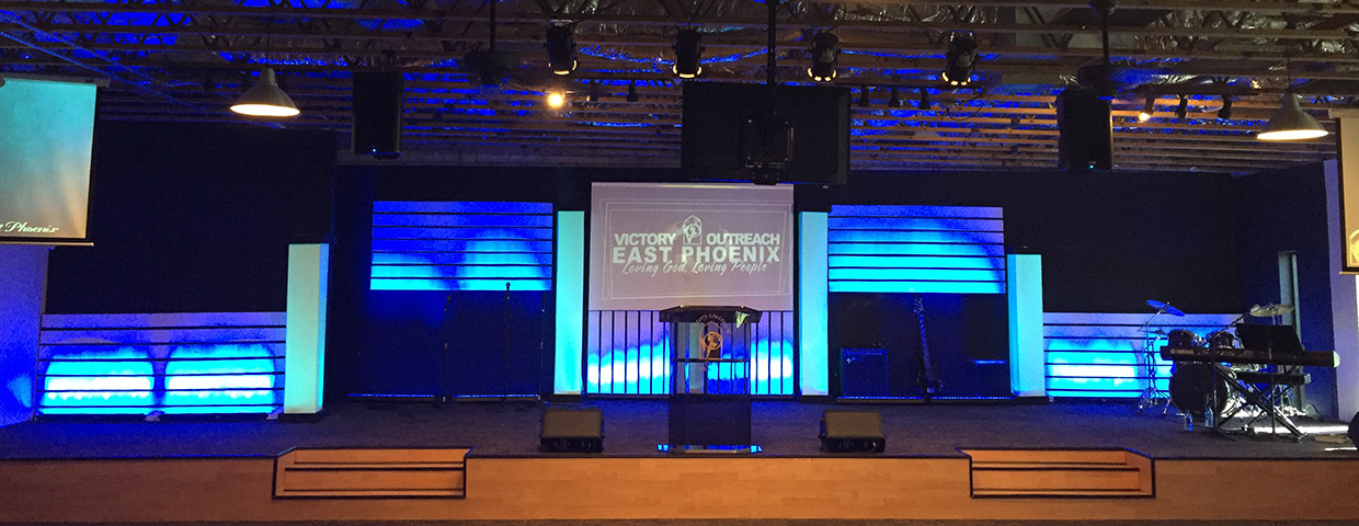 Accent Lines Church Stage Design Ideas