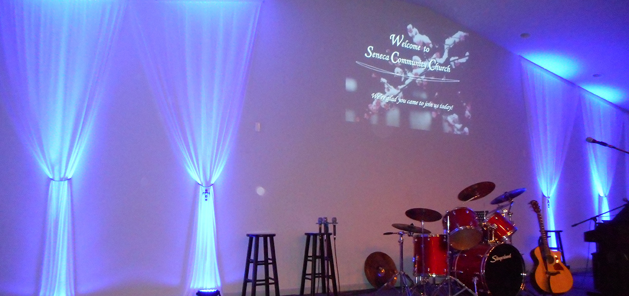Colored Led Lights >> Simple Fabric | Church Stage Design Ideas