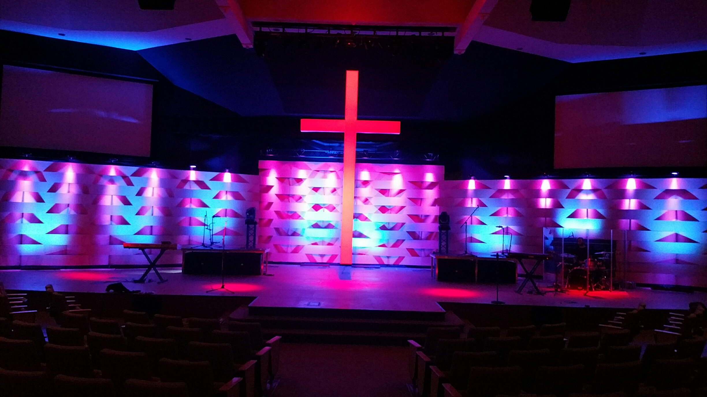 Weaved Easter Church Stage Design Ideas