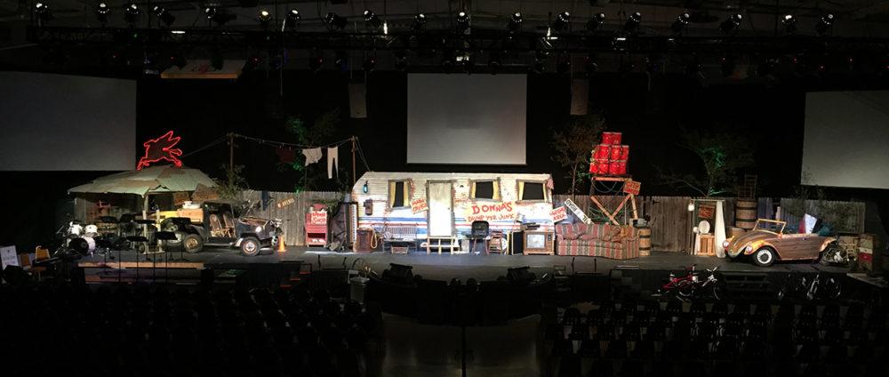 Concert Stage Design Ideas light sticks Hillbilly Set