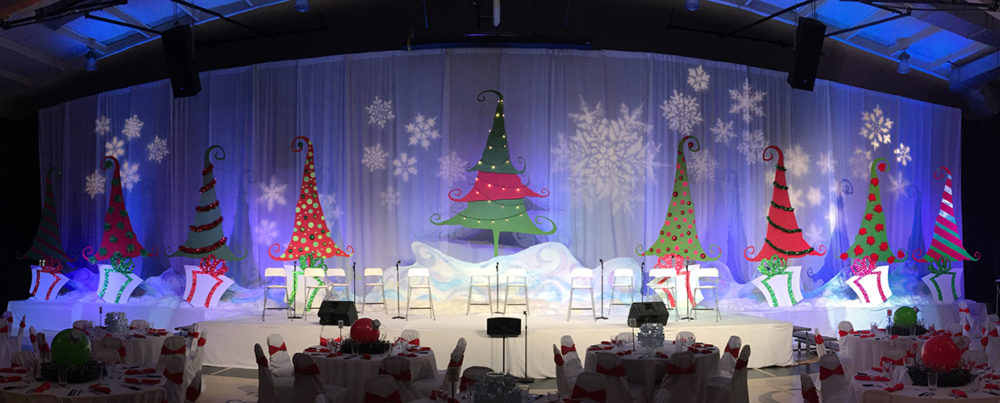 Rockin Christmas Trees Stage Design
