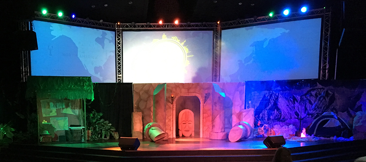 templed church stage design ideas