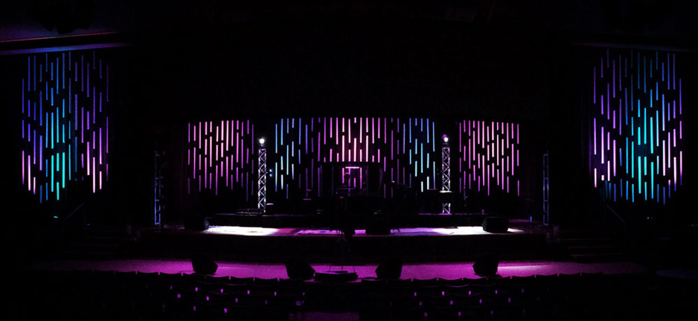 Patterned PVC Stage Design