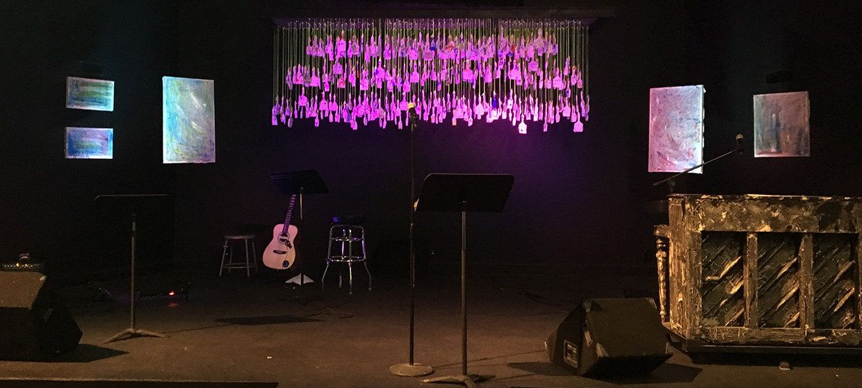 painted and brushed church stage design ideas