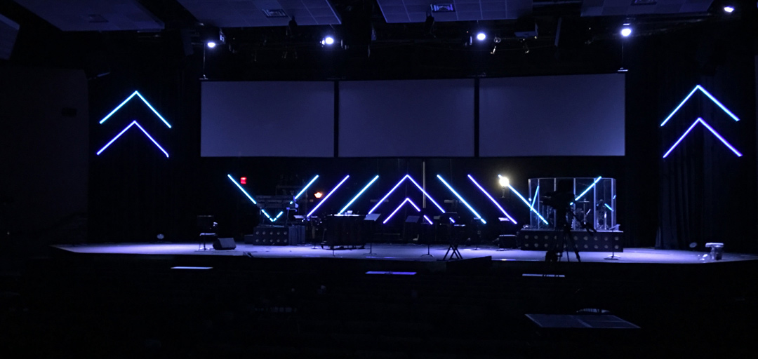 LED By The Spirit Church Stage Design Ideas