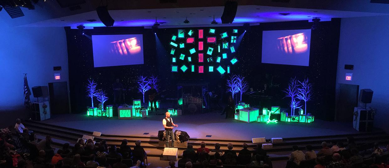 Glowing Presence Church Stage Design Ideas