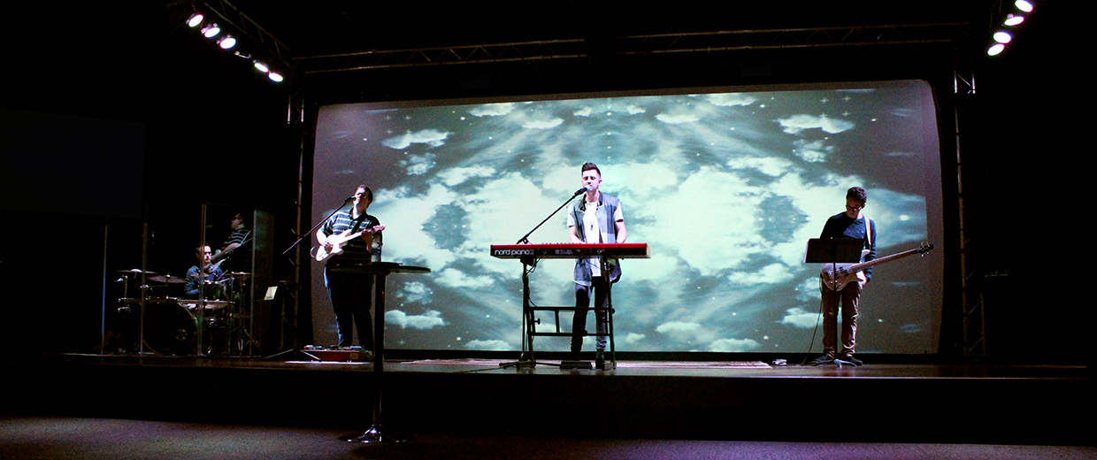 projection wall church stage design ideas
